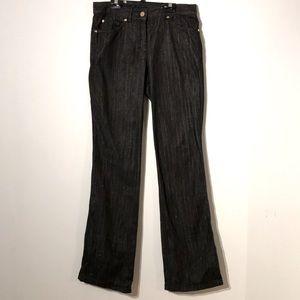 Escada metallic threads black jeans